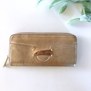 Michael Kors Gold Signature Wallet